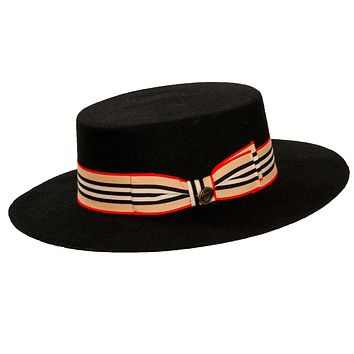 Zayden Firm Flat Top Hat by Bruno Capelo