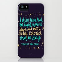 Night Owl on Navy iPhone & iPod Case by Cat Coquillette