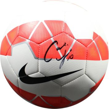 Carli Lloyd Signed Red White Nike Soccer Ball PSA