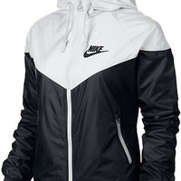 Nike WindRunner Women's Jacket Windbreaker Hoodie Black White 545909-011