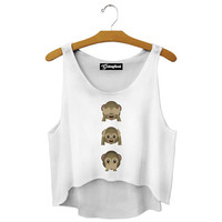 Emoji Monkey Crop Top