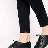 New Look Knightsbridge Black Flat Brogue Shoes at asos.com