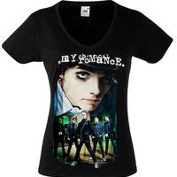 MY CHEMICAL ROMANCE Band 1 T Black New T-shirt - Womens (All Sizes Available) Fruit Of The Loom