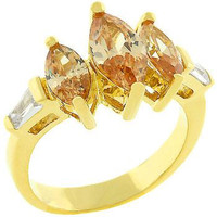 Triple Marquise Champagne Ring, size : 08