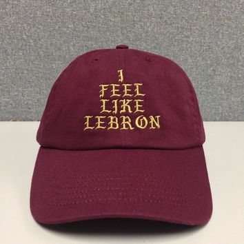 NEW I FEEL LIKE LEBRON pablo Hat (slide buckle) james kanye west cleveland cavs bear dad drake snapback Baseball cap
