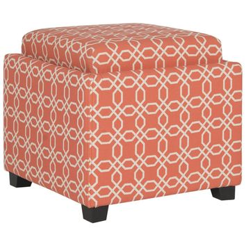 Harrison Single Tray Ottoman Orange / White