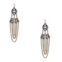 Fashion White Tassel Pendant Earrings Luxurious Rhinestone Stand Jewelry