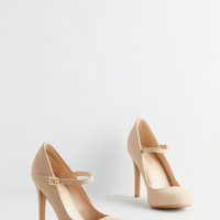 Shoe Had Me At Hello Heel in Beige | Mod Retro Vintage Heels | ModCloth.com
