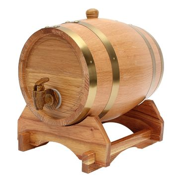 5L Wooden Barrel with Spigot for Whisky Wine Liquor Homebrew