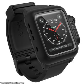 Catalyst for 42mm Apple Watch Series 3 & Series 2 - Waterproof Shock Proof Impact Resistant Apple Watch case [rugged iWatch protective case]+ Premium Soft Silicone apple watch band, Stealth Black