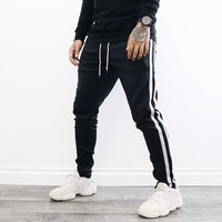 Abe Double Striped Pants (Black)