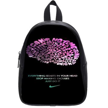 Nike Just Do It Quote Typography School Backpack Large