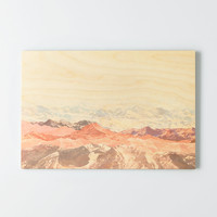 Deny Designs Mountainscape Wooden Wall Art, Multi