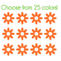 Daisy Nail Decals - Vinyl, Custom Color Choice