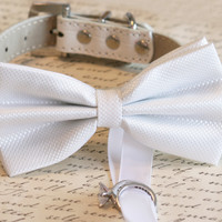 White Dog Bow Tie ring bearer, Pet Wedding, dog ring bearer