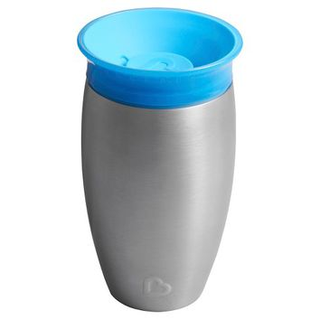 Munchkin Miracle 10oz Stainless Steel 360 Sippy Cup - Blue