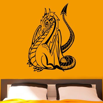 Dragon Wall Decal Vinyl Stickers Gothic Style Fantasy Home Interior Design Art Murals Bedroom Decor Made in US