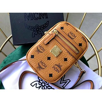 MCM 2019 new men and women models shoulder fashion camera bag travel pockets