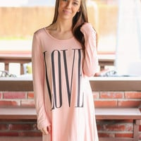 LOVE Swing Dress - Blush
