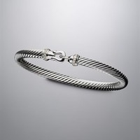 David Yurman | David Yurman Bracelets | Cable & Cuff Bracelets for Women | Cable Buckle® Collection Bracelet, Diamonds, 5mm