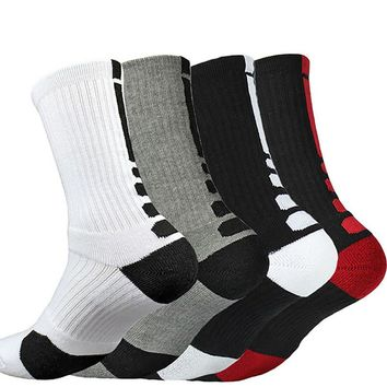 6 Colors New Design High Quality Combed Cotton Socks Fashion Thicken Towel For Men Hot Sale Autumn Winter Calcetines Long