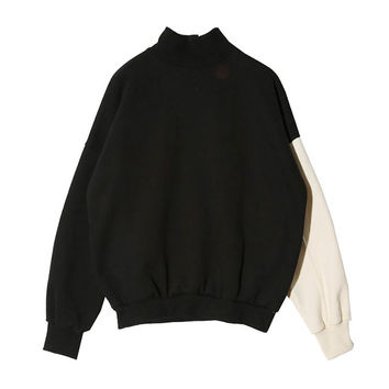 Color-Blocked Sleeve Pullover