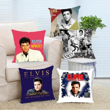 Babaite Retro Vintage Elvis Presley Luxury Printing Nice Throw Pillow Case Chair Seat Pillowcover Two Sides Print