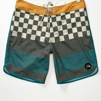 Quiksilver Brigg Block Scallop Boardshorts - Mens Board Shorts - Black