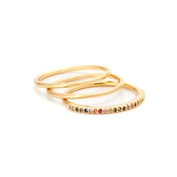 Shimmer Bar Ring Set