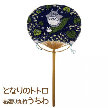 Studio Ghibli My Neighbor Totoro Fabric Covered Light Bamboo Japanese Style Fan (Uchiwa)
