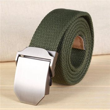 Hot Canvas Tactical Casual Belts Men's Fashion Wild Korean Thicken Long Cloth Belts Male Knitted Waistband Ceintures Homme