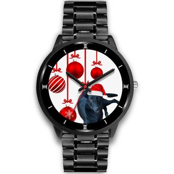 Customized Dog Print Christmas Special Black Wrist Watch-Free Shipping
