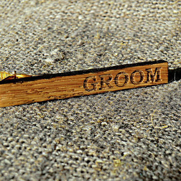Wood Tie Clip Personalized Tie Clip Groomsmen gift ideas Groomsmen Wedding Gifts for men Valentines gifts for him