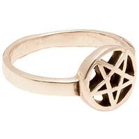 Fashionology Ring Small Pentagram in Silver