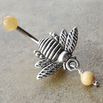 Honey Bee Belly Button Ring Jewelry