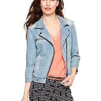 1969 denim biker jacket | Gap