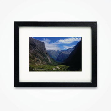 Photography Print New Zealand Road to Milford Sound Framed Photograph Sceneary Wall Art
