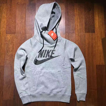 NIKE HOODIE GIRLS TOP BLOUSE JUMPER GREY HIGH QUALITY