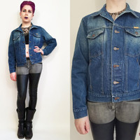 80s Clothing Jean Jacket Vintage Denim Jacket 80s Jean Jacket 80s Denim Jacket Faded Jean Jacket Rustler Jean Size Medium Blue Jean Jacket
