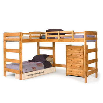 L-Shaped Loft Bed