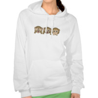 Three Wise Monkeys Emoji Hoodie