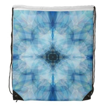 Scattered Petals Drawstring Backpack
