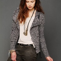 Free People Salt And Pepper Motorcycle Jacket