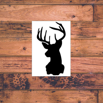 Deer Head Decal | Deer Hunter Decal | Cute Deer Decal | Preppy Deer Decal | Deer Monogram Decal | Country Deer Decal | Southern Car  | 268