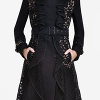 BCBGMAXAZRIA - WHAT'S NEW: FASHION EXTREMES: EMMETT LACE TRENCH COAT