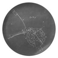 Industrial Engineering Chalkboard 4 Melamine Plate