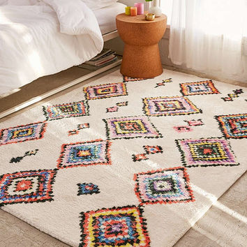 Cozy Rainbow Diamond Rug | Urban Outfitters