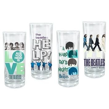 Beatles Theme Glass Set - VANDOR - Beatles - Barware at Entertainment Earth