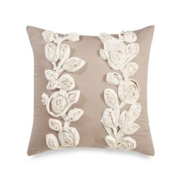 Royal Heritage Home™ Sonoma Square Throw Pillow in Ivory