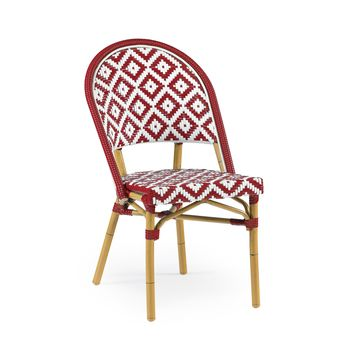 de La Paix Aluminum Bamboo Stackable Side Chair